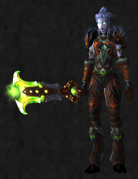 blood_dk & Plate transmog set | Pretty Fly for a Draenei