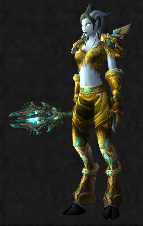side & Plate transmog set | Pretty Fly for a Draenei