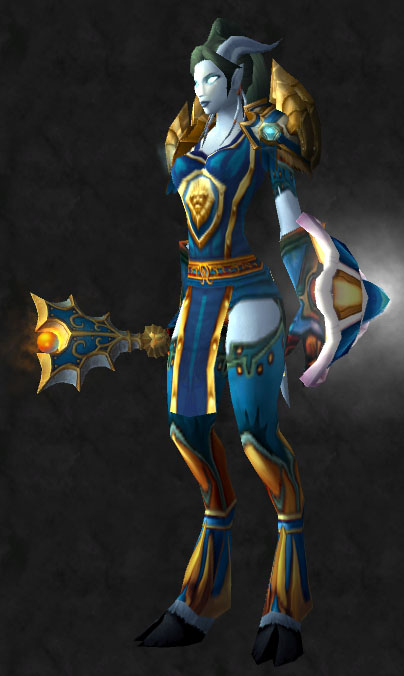 I use it sometimes for a tanking set when I get the wild urge to actually tank lol! & Plate transmog set | Pretty Fly for a Draenei