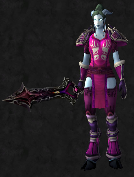 pink & Plate Mogs | Pretty Fly for a Draenei